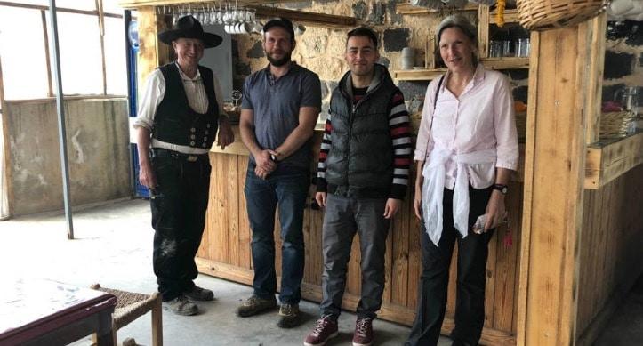 Visitors to Salihs Cafe in Jordan