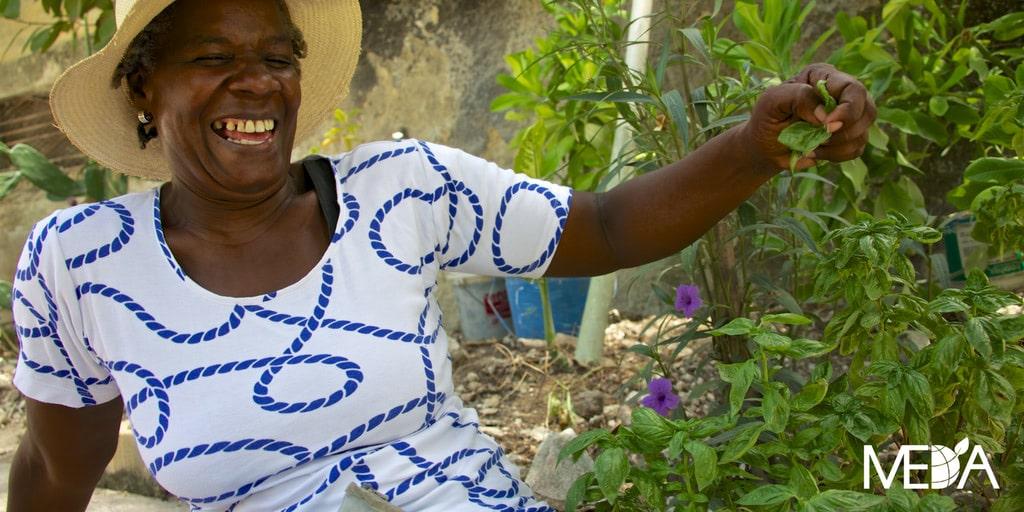 Agricultrice en Haïti
