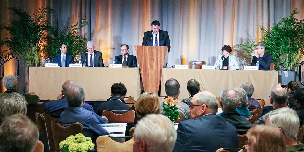 Allan Sauder announces his retirement at Convention 2018