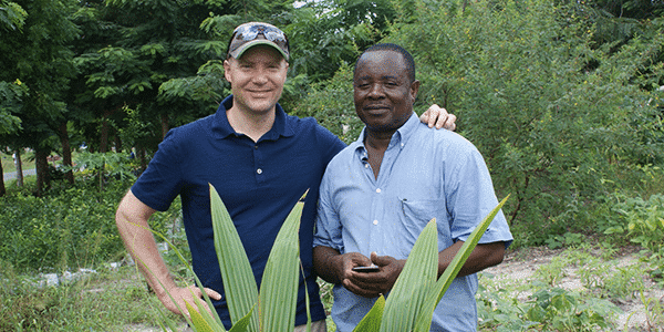 David Eagle (L), Associate Director, East Africa