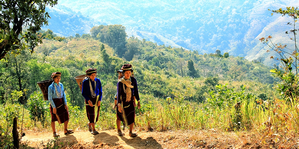Women farmers in Myanmar supported by Canadian cyclists
