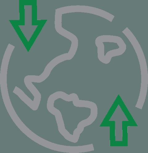 North South equilibrium icon