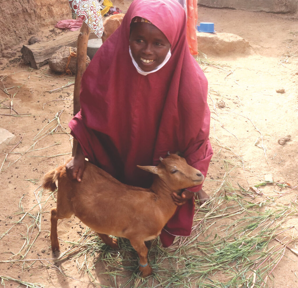 Adama and her goat