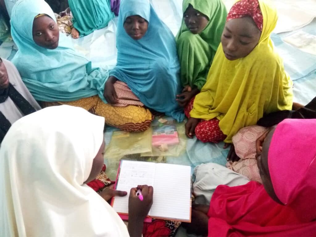 Group of girls participating in Life Skills Training
