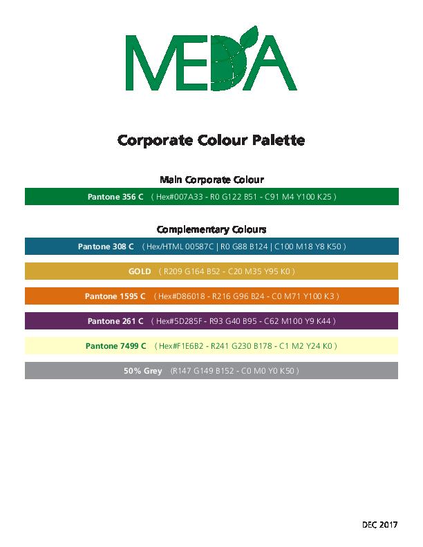 MEDA Corporate Colour Palette
