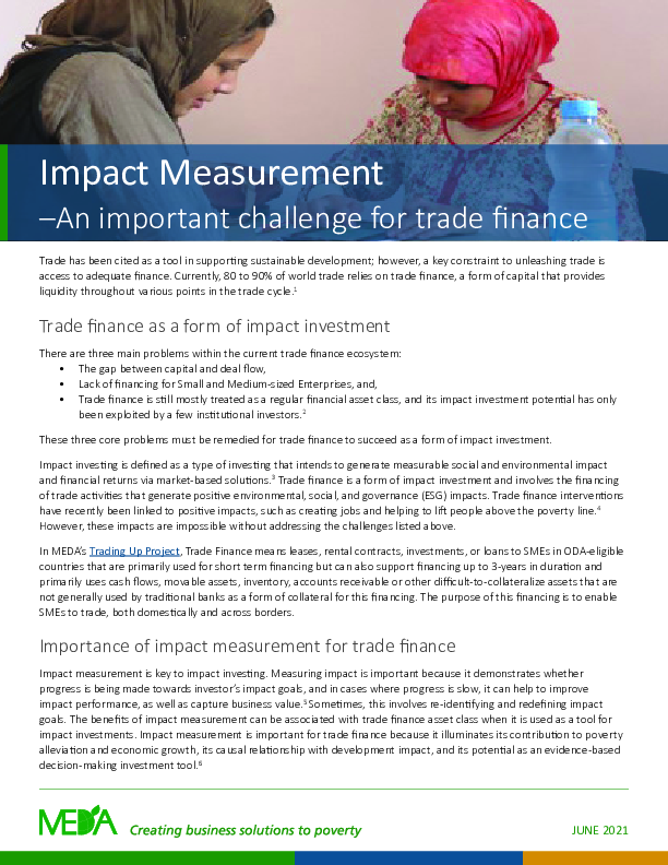 Impact Measurement - Learning Brief