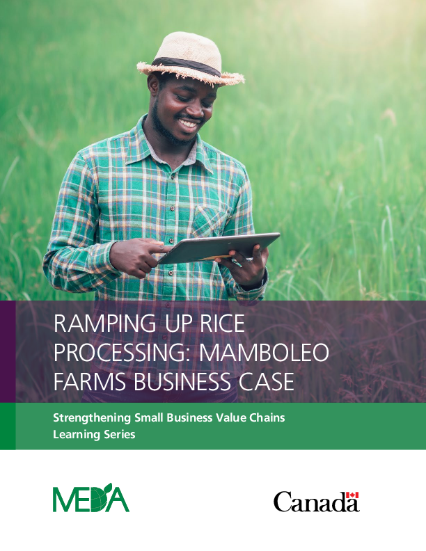 Ramping up Rice Processing: Mamboleo Farms Business Case