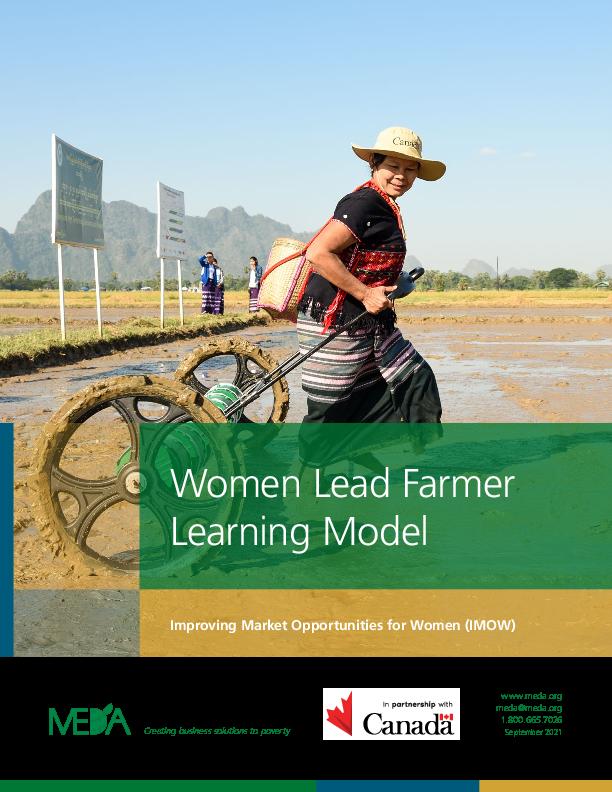 Women Lead Farmer Learning Model