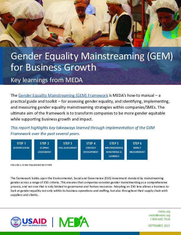 GEM Key Lessons Report