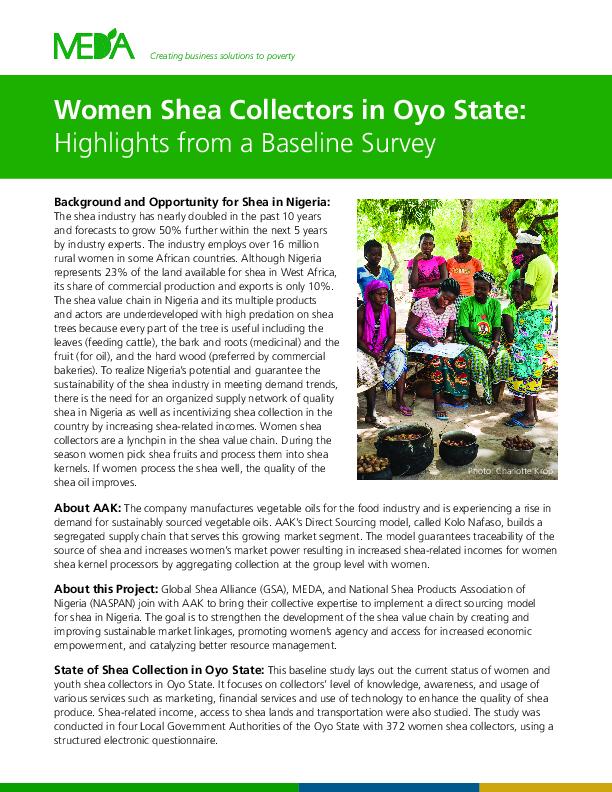 DMDP- Nigeria Shea Collectors Baseline Intro