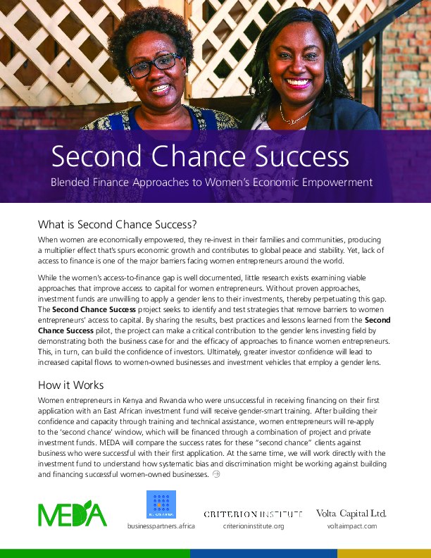 Second Chance Success- 2 Pager