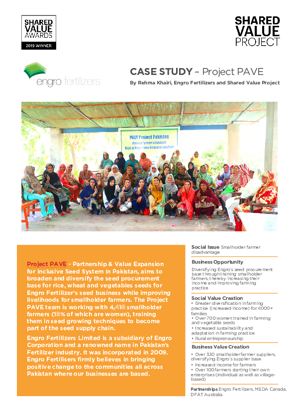 Engro Project PAVE Case Study