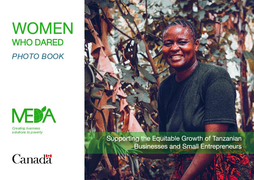 """Women Who Dared"": Tanzanian Women Entrepreneurs Photobook-English"