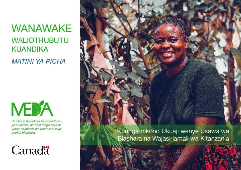 """Women Who Dared"": Tanzanian Women Entrepreneurs Photobook-Swahili"
