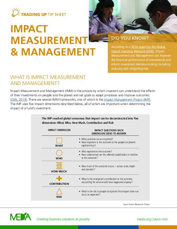 Impact Measurement & Management