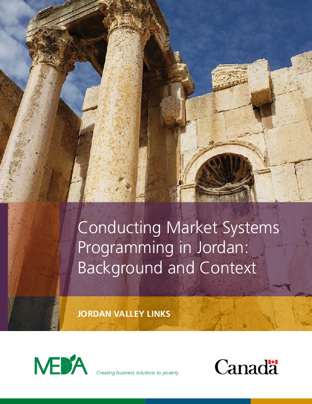 Conducting Market Systems Programming in Jordan: Background and Context