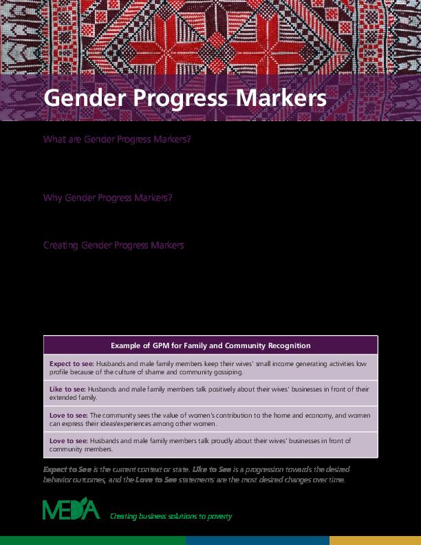 Overview of Gender Progress Markers