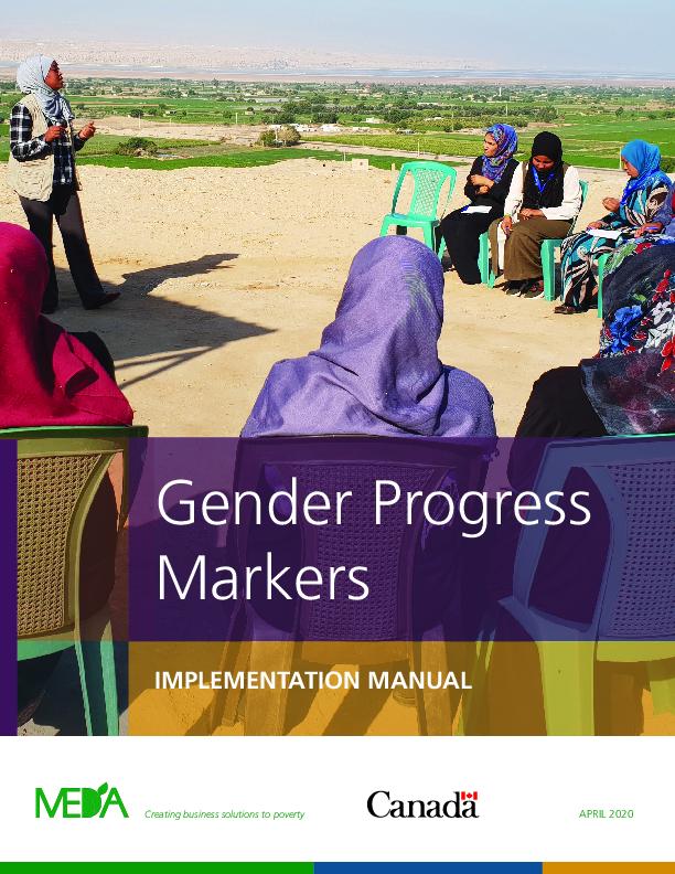Gender Progress Markers: Implementation Manual