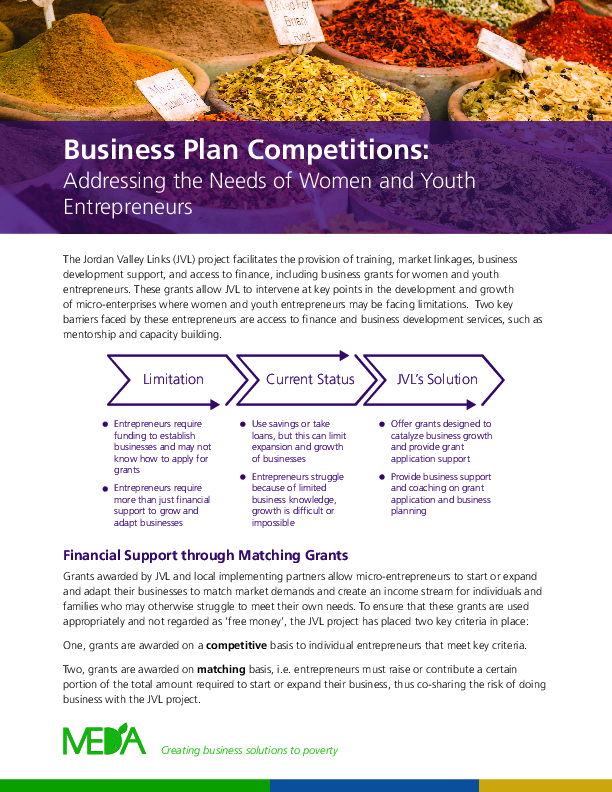 Business Plan Competitions: Addressing the Needs of Women and Youth Entrepreneurs