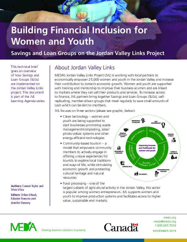 Building Financial Inclusion for Women and Youth - Savings and Loan Groups on the Jordan Valley Links Project