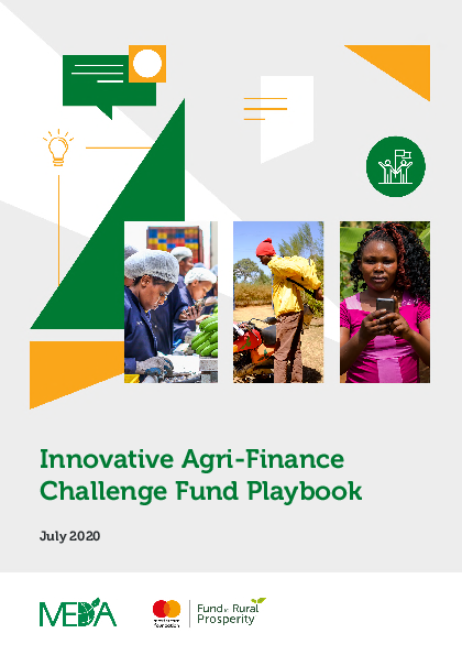 Innovative Agri Finance Challenge Fund Playbook 2020