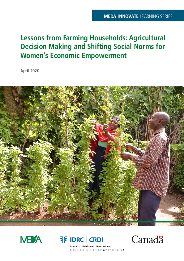 Lessons from Farming Households: Agricultural Decision Making and Shifting Social Norms for Women's Economic Empowerment