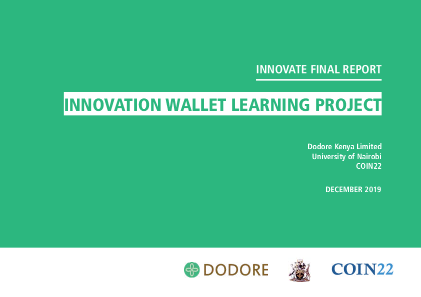 Innovation Wallet Learning Project