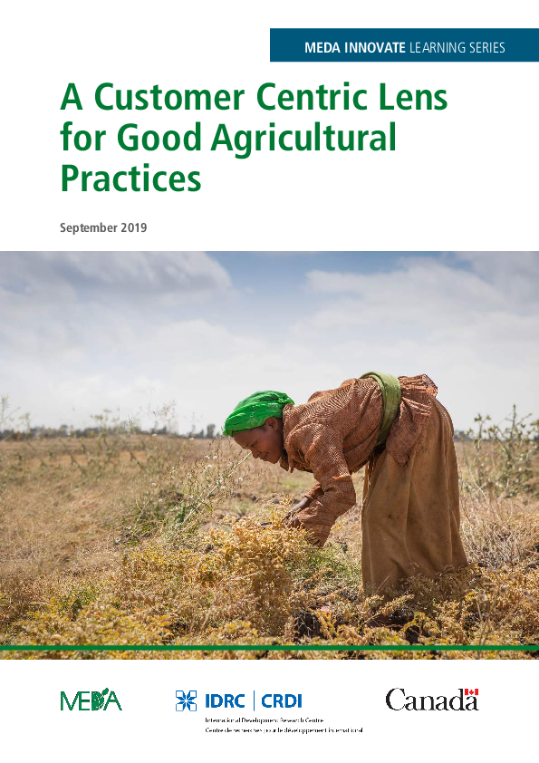 A Customer Centric Lens for Good Agricultural Practices
