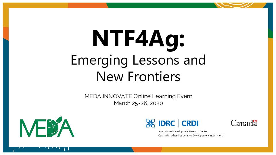 NTF4Ag Event Slides - March 25 26, 2020