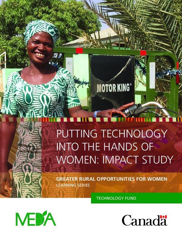 Putting Technology into the Hands of Women Impact Study (EN/FR)