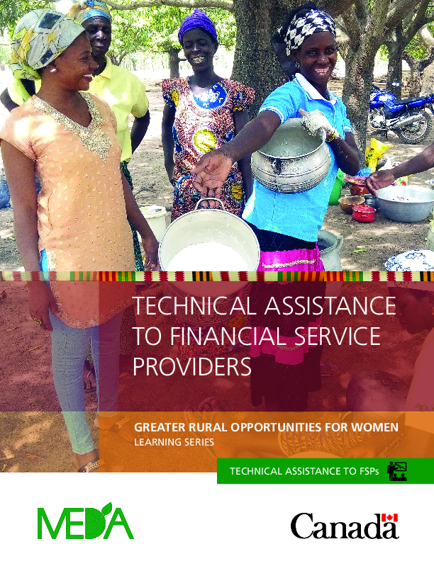 Technical Assistance to Financial Service Providers (EN/FR)