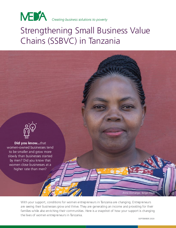 Donor Impact Report SSBVC - Fall 2020