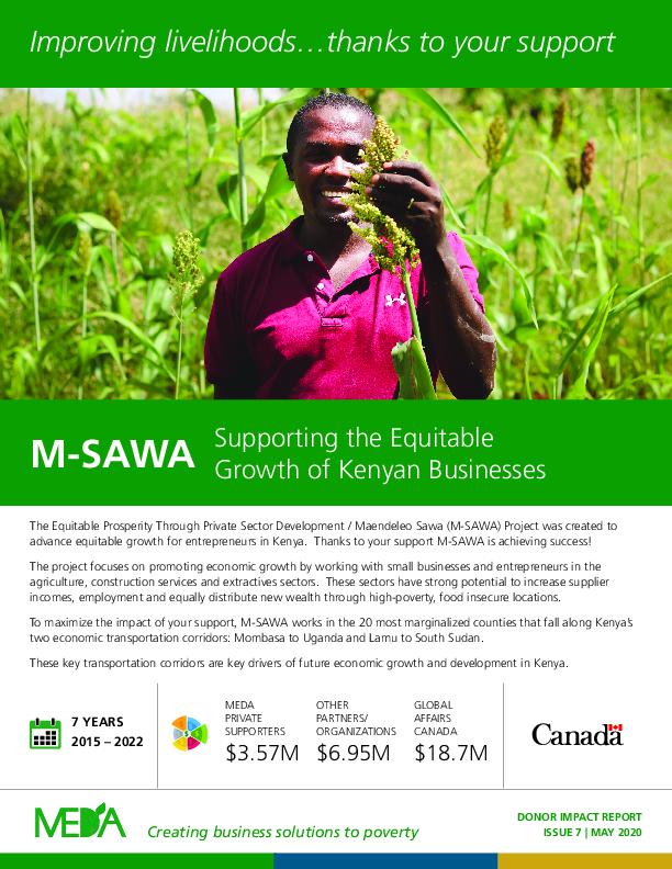 Donor Impact Report M-SAWA - Spring 2020