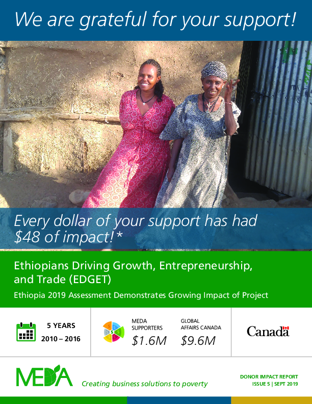 Donor Impact Report EDGET - Fall 2019
