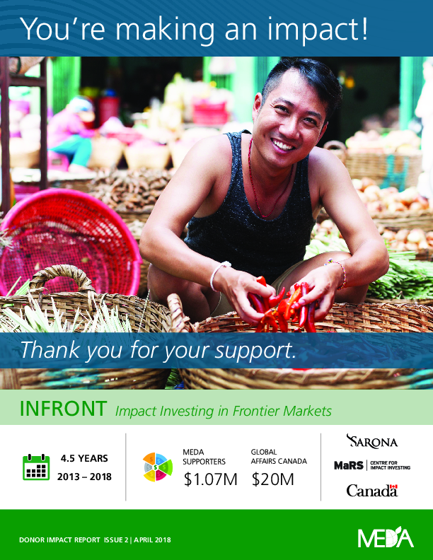 Donor Impact Report INFRONT