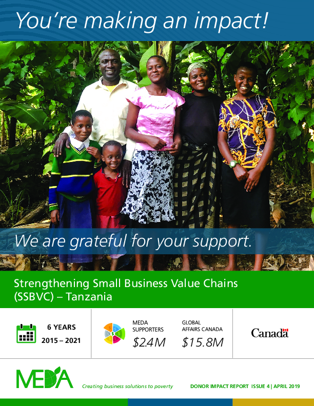 Donor Impact Report SSBVC - Spring 2019