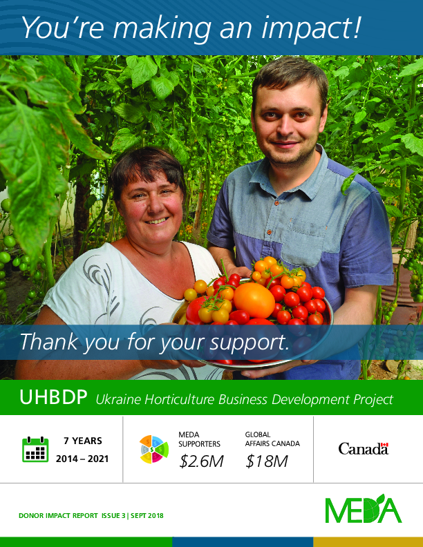 Donor Impact Report UHBDP - Fall 2018