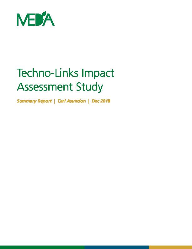 Techno-Links Impact Assessment Summary Report