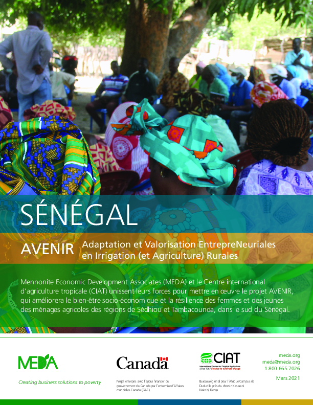 Senegal AVENIR Project Profile
