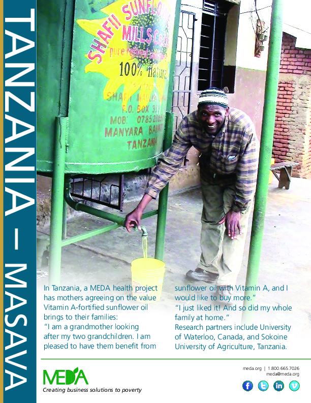 Tanzania MASAVA Project Profile