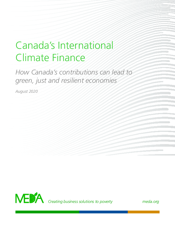 MEDA Recommendations for the Future of Canada